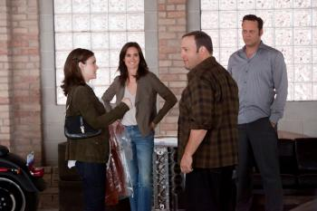(L to R) Geneva (Winona Ryder), Beth (Jennifer Connelly), Nick (Kevin James) and Ronny (Vince Vaughn) in 'The Dilemma.'  ( Chuck Hodes/ Universal Studio)