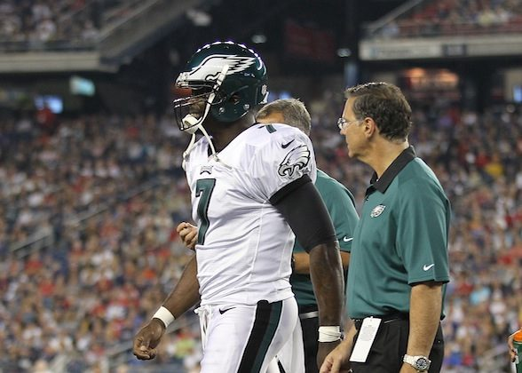 Michael Vick has already suffered his second injury of the preseason. (Jim Rogash/Getty Images)