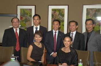 {front, left to right) Executive Director Katie Dang; Chairperson Lieu Nguyen; (back row, left to right) Director Vinh Nguyen; Secretary Cliff Nguyen; Director Shandon Phan; Director Thang Nguyen, Ph.D.; Director Andy Tran. (www.VietAmCham.com)