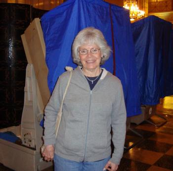 Pamela Buckner, a retired registered nurse in Philadelphia voted for Rep. Joe Sestak into the Nov. 2 run-off election with Pat Toomey, winner of the GOP Senate nomination in Pennsylvania.  (Pamela Tsai/Epoch Times)