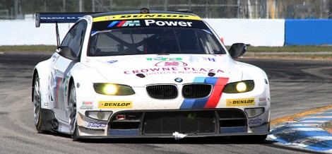The #56 BMW M3 of defending winners Joey Hand and Dirk Müller will start from the GT pole. (James Fish/The Epoch Times)