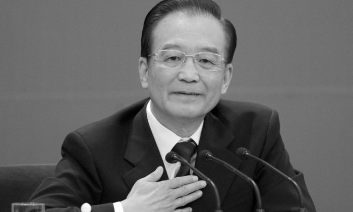 Chinese Premier Wen Jiabao takes part in a press conference on March 14, 2012 in Beijing, China. (Lintao Zhang/Getty Images)
