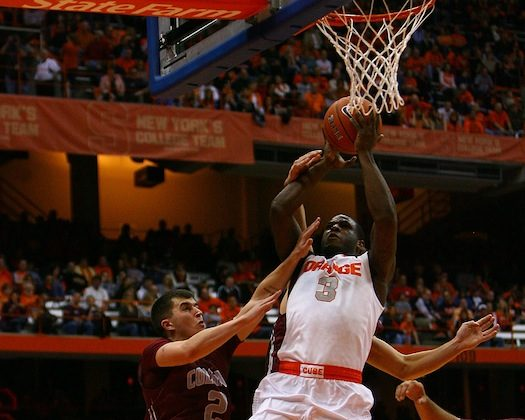 Syracuse guard Dion Waiters put up 22 points at N.C. State on Saturday in the win. (Nate Shron/Getty Images)