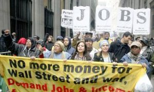 'March on Wall Street' Protests Draw Hundreds