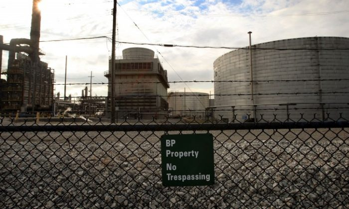 The BP refinery in Whiting, Ind., in this file photo. BP, under pressure from environmental groups, agreed to spend $400 million in pollution control upgrades to treat future emissions.(Scott Olson/Getty Images)