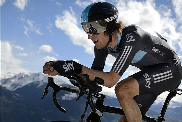 Bradley Wiggins rides to a stage and overall win in the Tour of Romandie time trial. (teamsky.com)