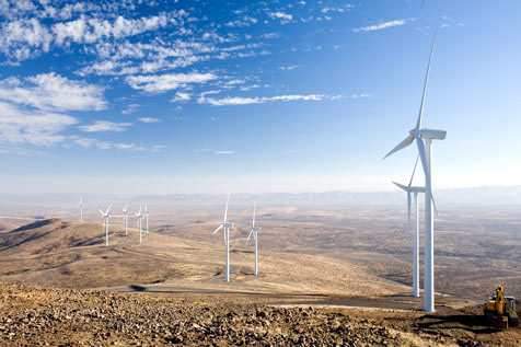The Wild Horse Wind and Solar Facility, located in Central Washington, is Puget Sound Energy's second wind-powered electric generation facility. It the utility's largest wind farm with 149 turbines with the ability to generate up to 273 megawatts (MW) of electricity. (Puget Sound Energy)