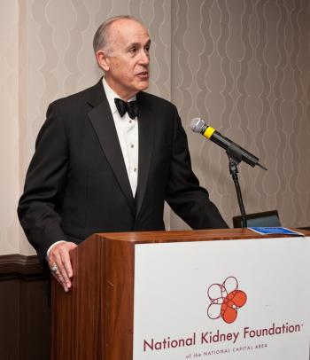 William Couper, President Mid-Atlantic Bank of America and Chair of This Year's Kidney Ball, Speaks at Chairman's Reception. (Courtesy of National Kidney Foundation)