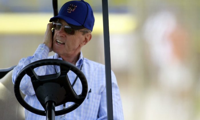 Mets owner Fred Wilpon says their payroll reduction was due to a shift in baseball operations philosophy. (Marc Serota/Getty Images)