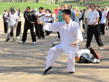 ANCIENT STYLE: Martial arts Master Longfei Yang from the Xin Wu Men Martial Arts Association displays his art. Courtesty of Xin Wu Men. (Courtesy of Xin Wu Men Association)