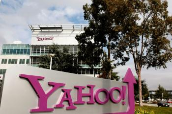 The Yahoo logo is seen on a sign outside of the Yahoo Sunnyvale campus in Sunnyvale, California. Yahoo Inc. said that it had agreed to buy web content publisher Associated Content on Tuesday.  (Justin Sullivan/Getty Images)