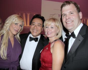 Amanda Forsythe, Yoyo Ma, Laureen Harper, and John Baird at the NAC 2009 Gala in Ottawa (Giovanni)
