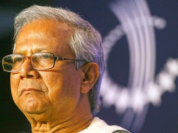 PIONEER: Dr. Muhammad Yunus, Founder and Managing Director of Grameen Bank, looks on during the annual Clinton Global Initiative (CGI) last September in New York City. Microfinance took its root when Dr. Yunus lent $27 to 42 Bangladeshi women in 1976. And in 1983, Yunus formed Grameen Bank (GB), the first microfinance bank. (Mario Tama/Getty Images)