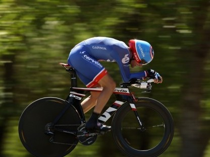 David Zabriskie was the only rider to break 36 minutes on the 18.1-mile course. (Ezra Shaw/Getty Images)
