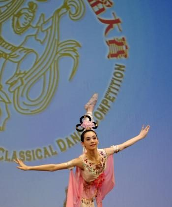 Miranda Zhou-Galati, finalist in the junior female division of the 2008 NTDTV International Chinese Classical Dance Competition.  (Bing Dai/The Epoch Times)