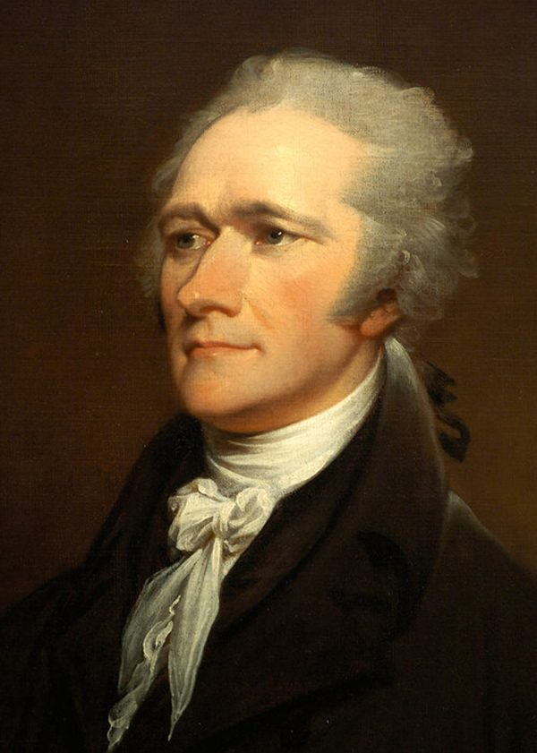 """If the federal government should overpass the just bounds of its authority and make a tyrannical use of its powers, the people, whose creature it is, must appeal to the standard they have formed, and take such measures to redress the injury done to the Constitution as the exigency may suggest and prudence justify."" Alexander Hamilton (1755/1757–1804). Chief of staff of General Washington and a founding father of the United States. He was one of the most influential interpreters of the Constitution, the founder of the financial system and the first American political party. (Portrait by John Trumbull)"