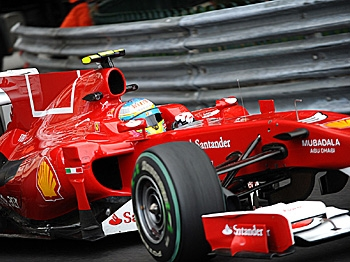 Fernando Alonso was fastest in the first practice on the Monaco street circuit. (Fred Dufour/AFP/Getty Images)