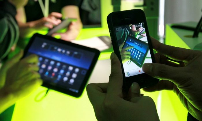 Android devices on display in 2011 in Mountain View, California. The copyright phase of the Oracle-Google Android trial has ended, but the results are not clear yet, with the patent phase of the trial having started. (Getty Images)