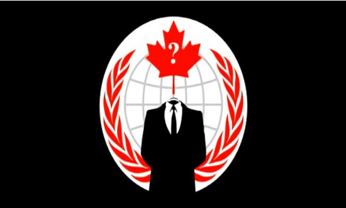 The logo on OperationVicTory's YouTube channel plays while a computerized woman's voice narrates. The channel has posted eight clips targeting Canadian Public Safety Minister Vic Toews. (Matthew Little/The Epoch Times)