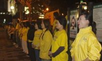 Falun Gong Practitioners Appeal During Chinese Envoy's Visit to Taiwan