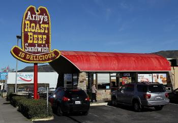 An Arby's restaurant in South San Francisco, Calif. Wendy's/Arby's Group announced that it may sell its troubled Arby's roast beef sandwich chain in order to concentrate on the Wendy's brand. (Justin Sullivan/Getty Images)