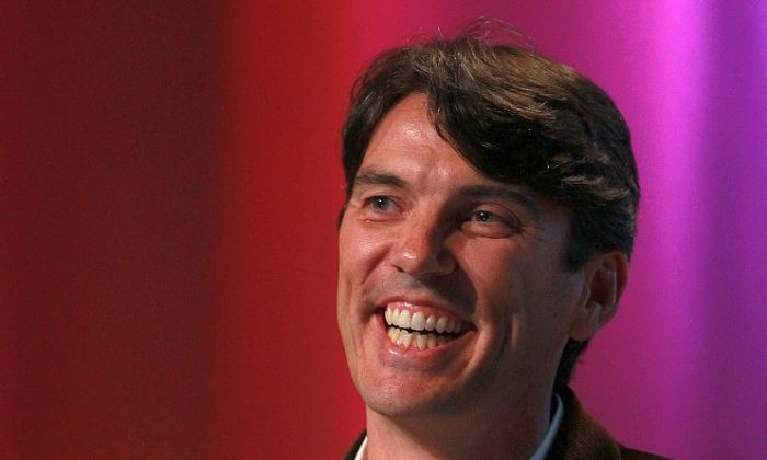 AOL CEO Tim Armstrong speaks during the TechCrunch Disrupt Conference in San Francisco in this file photo. AOL is exploring selling its patents to raise cash. (Justin Sullivan/Getty Images)