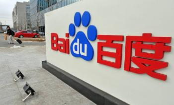 The Chinese Web search giant Baidu's headoffice in Beijing. The Nasdaq-listed Baidu has been on the stock market since 2005.  (Simon Lim/Getty Images)