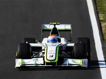 Rubens Barrichello of Brawn GP finished seventh, one place ahead of points leader and teammate Jenson Button. (Mark Thompson/Getty Images)