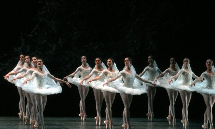 """This scene from """"La Bayadere,"""" titled """"The Kingdom of the Shades,"""" is among the most celebrated in ballet. American Ballet Theatre is performing the classical ballet through May 28 at the Metropolitan Opera House. (Rosalie O'Connor)"""