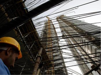 With fewer commercial buildings under construction, lenders are more likely to finance higher-quality projects.   (Marwan Naamani/AFP/Getty Images)