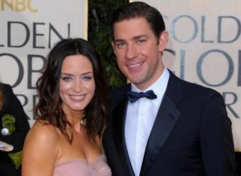 Actress Emily Blunt and actor John Krasinski were married in a private ceremony in Como, Italy on Saturday.  (Jason Merritt/Getty Images)