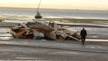 Damage is surveyed after recent storms throughout NZ caused chaos on land and at sea. (Charlotte Cuthbertson/The Epoch Times)