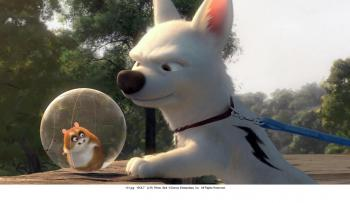 Bolt, a dog who thinks he has supernormal powers, goes on a search for his