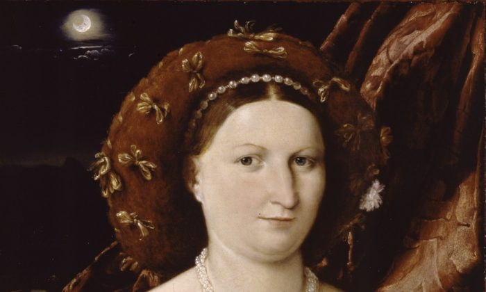 """""""Portrait of Lucina Brembati"""" by Lorenzo Lotto (1480-1556). (Courtesy of the Met)"""