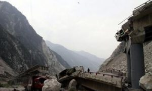 Six Die in Bridge Collapse in China Quake Zone