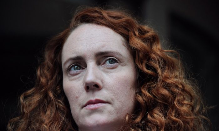 Rebekah Brooks, former Chief Executive of News International, addresses the media outside a lawyer's office in London, on May 15. (Carl Court/AFP/GettyImages)
