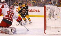 Bruins Blank Hurricanes 4—0