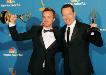 Aaron Paul and Bryan Cranston won Emmys for their roles in 'Breaking Bad'  (Jason Merritt/Getty Images)