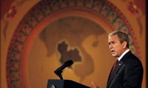 Bush Chides China for Human Rights Abuses