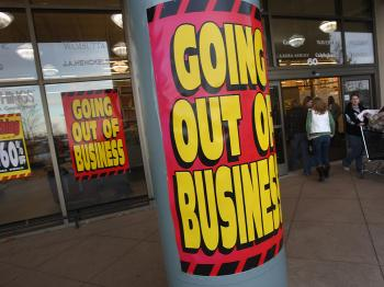A linen store goes out of business at a shopping mall in Aurora, Colorado, which has suffered one of the highest home foreclosure rates in the nation.  (John Moore/Getty Images)