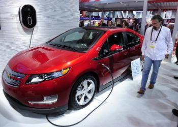The Chevy Volt, which recently won North American Car of the Year. (ROBYN BECK/AFP/Getty Images)