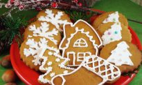 Decorated Cardamom Ginger Cookies