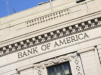 Bank of America reported its first losing quarter in 17 years.  (Karen Bleier/AFP/Getty Images)