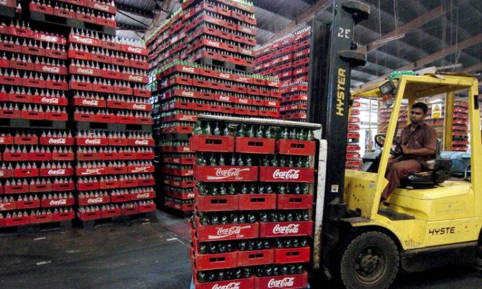 A Coca-Cola factory in Biyagama, Sri Lanka. A Chinese branch of Coca-Cola is facing claims that over 70,000 drinks contaminated by chlorine were released to the market. (Lakruwan Wanniarachchi/AFP/Getty Images)