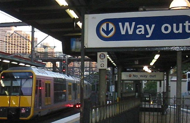 Sydney Central Station. Ms Berejiklian announced an overhaul of Railcorp, citing unsustainable operating costs. (The Epoch Times)