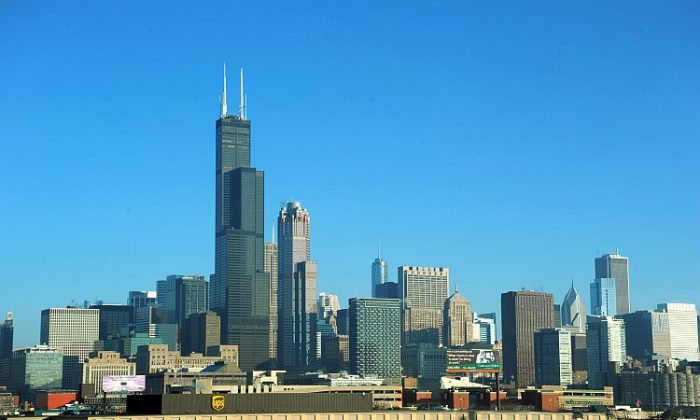 The Chicago skyline is seen from I-90. The White House said that it is shifting the May G-8 forum, from Chicago to Camp David. Questions have been raised as to the reason for the move. (Karen Bleier/AFP/Getty Images)