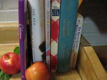 This month featuring a Cantonese cookbook. (Maureen Zebian/Epoch Times)