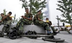 Security Forces Scaring Visitors in Beijing