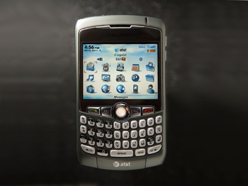 The Blackberry Curve 8310 outsold the formerly top-selling iPhone in the first quarter of 2009.  (David McNew/Getty Images)