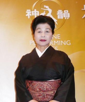 The Minister of the Japanese Folk Dance Union, Ms Yamaguchi. (Lili Wu/The Epoch Times)